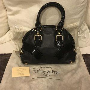 e28d2d3bf4 Tiffany & Fred Bags | Tiffany Fred Black Mini Bowling Bag | Poshmark