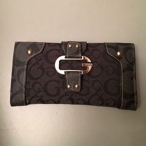 Guess by Marciano Handbags - Guess Marciano rectangular black signature wallet