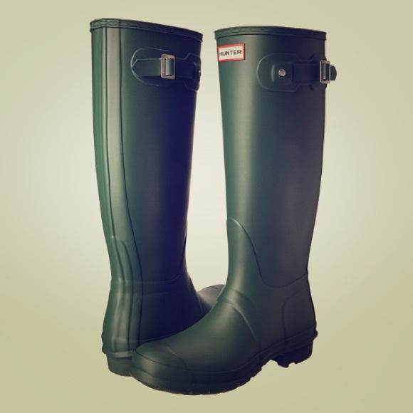 Hunter Schuhes   Original Tall RainStiefel Grün 6 Größe 6 Grün   Poshmark b55e01