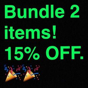 BUNDLE 2 items get 15% OFF!!!