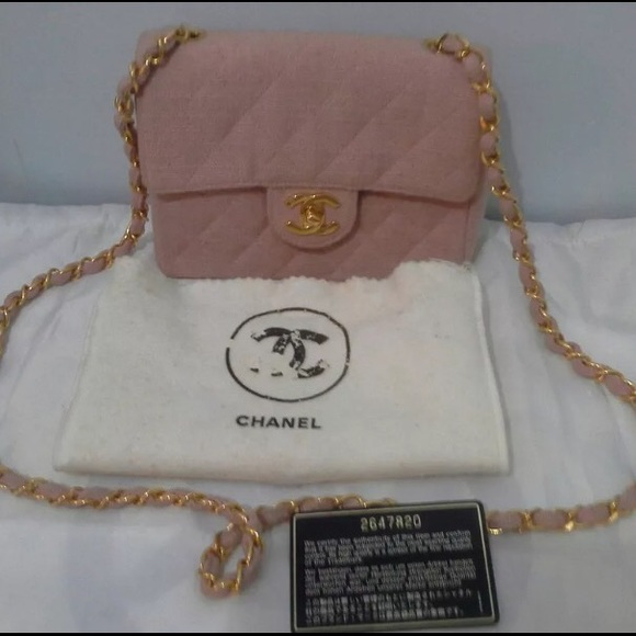 140d86f3d0e5 CHANEL Bags | Sold Authentic Pink Canvas Mini 255 Flap | Poshmark