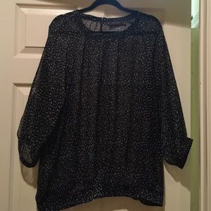 The Limited sheer blouse-XL