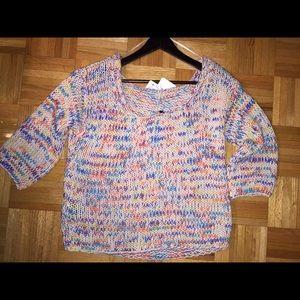 Zara Knitted Multi-Color Sweater  Sz. Medium