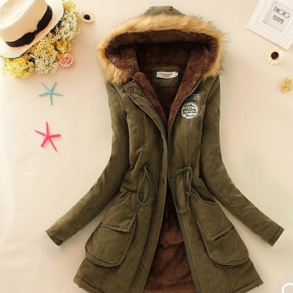 NEW!!! Olive Green Military Down Parka from Fede en fashion's ...