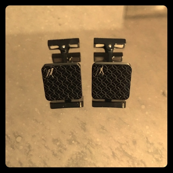 12 off louis vuitton other louis vuitton champs elysees black cufflinks from c 39 s closet on. Black Bedroom Furniture Sets. Home Design Ideas