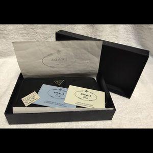 prada light pink bag - 89% off Prada Handbags - PRADA Tessuto Wallet \u0026amp; Pouchette with ...