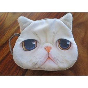 Sad Cat coin pouch