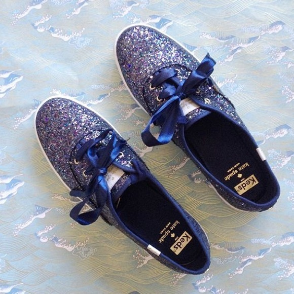 keds navy glitter