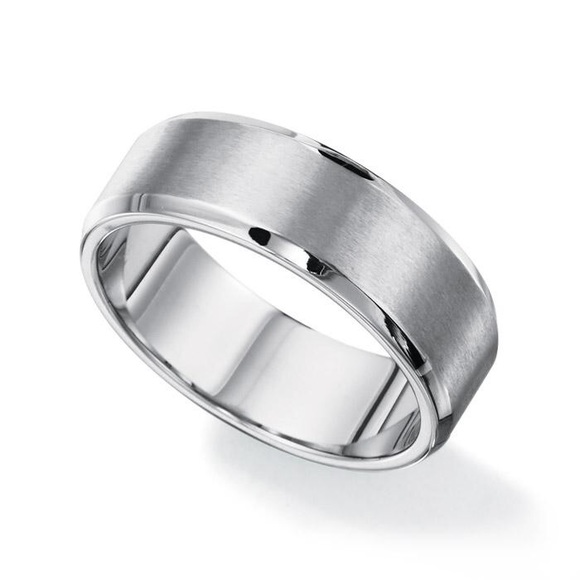 71 off Avon Other Mens Brushed Stainless Steel Wedding Band