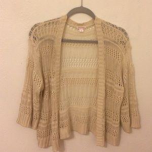 Off-white crocheted cardigan (Xhilaration)