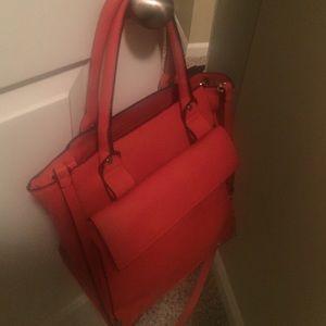 Zara basics red shoulder bag