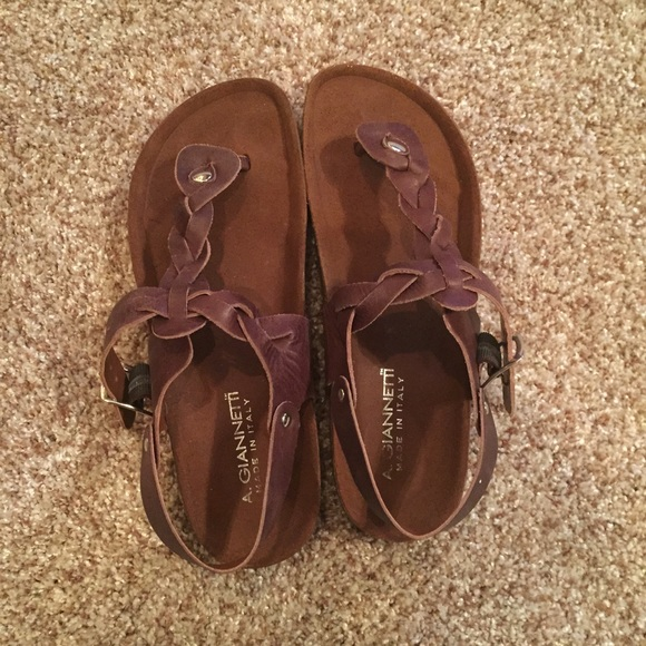 242afe635010 Birkenstock Shoes - Brown Braided Leather Sandals