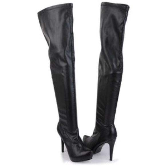 3dd7ed61d94 Aldo Thigh High Black Boots 36