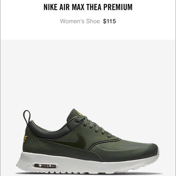 nike air max thea womens olive green