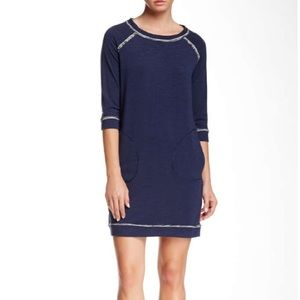 Max Studio Topstitched Shift Dress