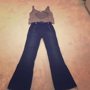 High waisted flare BDG jeans