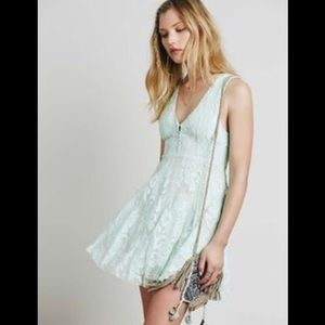 Free People Dresses & Skirts - 🍉BOGO TODAY!🍉Free People mint lace dress