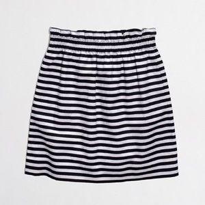 J. Crew Stripe City Mini Skirt