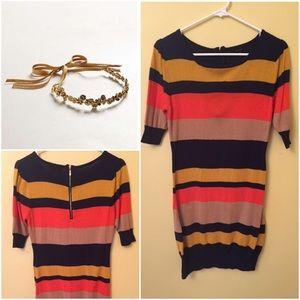 Mine Dresses & Skirts - Gorgeous retro multi-color sweater dress nwot