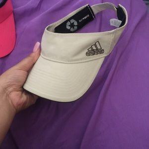 Khaki colored Adidas visor
