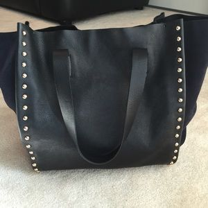 Zara authentic leather tote