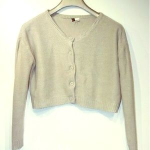 Divided by H&M grey button up cropped cardigan-M