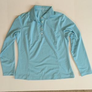 Nike Tops - Nike Golf Dry-Fit women's polo shirt. Large. blue.