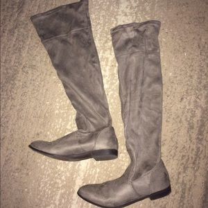 Shoe Dazzle Shoes - Over the knee faux suede boots | Size 7.5