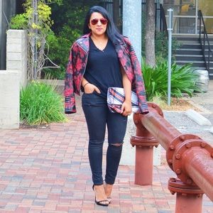 Lord & Taylor Jackets & Blazers - Floral Leather Jacket