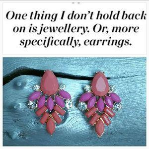 , Jewelry - Pretty n' Peachy Pink Earrings BRAND NEW