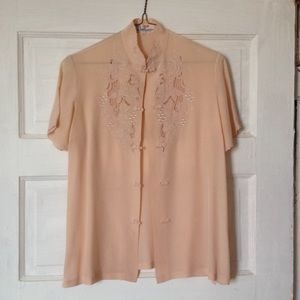100% silk vintage Chinese blouse