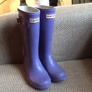 HUNTER LILAC PURPLE TALL RUBBER BOOTS, GIRLS sz 2