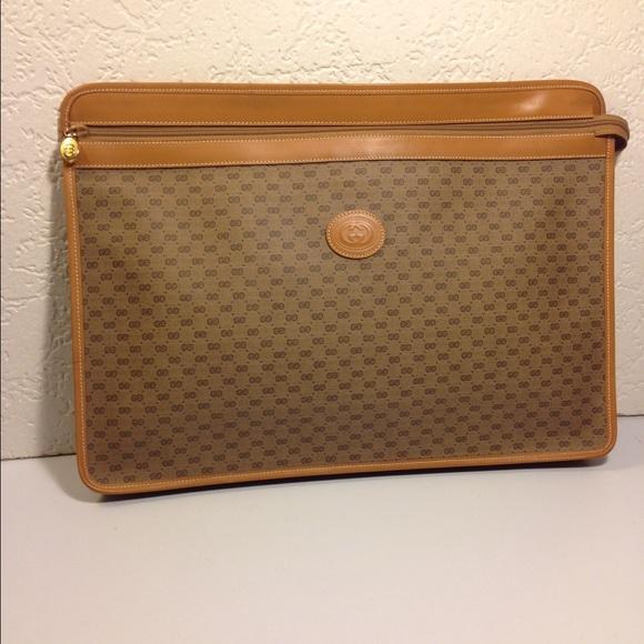 huge discount 798c4 261fe Gucci Vintage File Attache Briefcase Business Bag