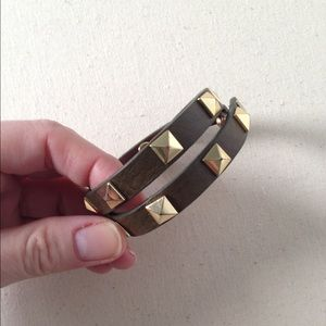Stella & Dot Leather Wrap Bracelet