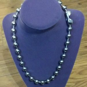 BALL CHAIN NECKLACE SILVER