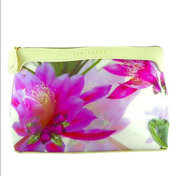 Ted Baker Handbags - Ted Baker Pink Floral makeup bag cosmetics case