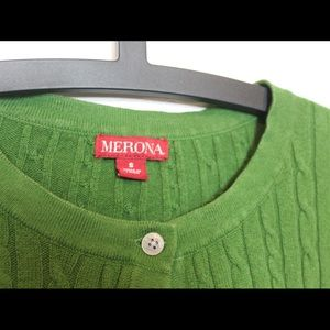 Merona Sweaters - Green textured cardigan cable knit long sleeve