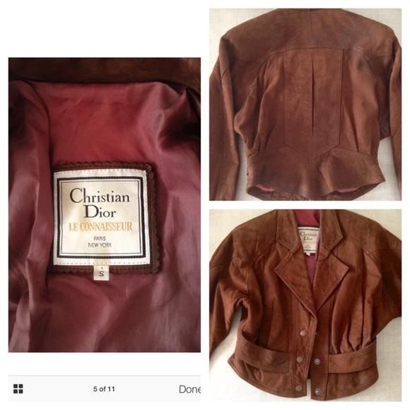 18552a0e43d9 Dior Jackets   Coats   Vintage Christian Brown Leather Jacket   Poshmark