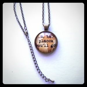 """""""Oh, the places you'll go!"""" Dr. Seuss necklace"""