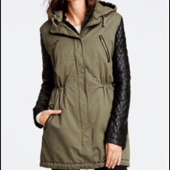 Victoria's Secret - Victoria's Secret Quilted Leather Parka Jacket ...