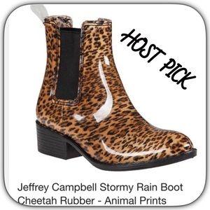 Jeffrey Campbell Brand NEW Animal Print Rain Boots
