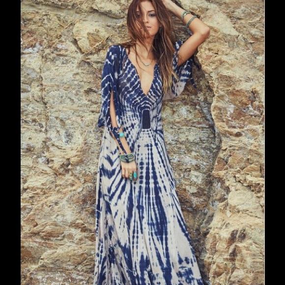 81% off Dresses &amp- Skirts - Hippie gypsy bohemian maxi dress unique ...