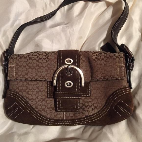 7260ef76eb ... canada small brown signature coach bag sale b4741 b174b