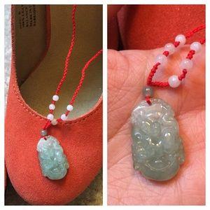 Accessories - Real Jade Good Luck Spirit Animal Pendant Necklace