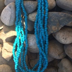 Jewelry - Long Blue Beaded Necklace