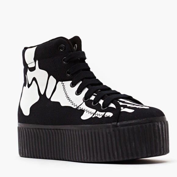 d24321ce11b Jeffrey Campbell Shoes - Jeffrey Campbell Platform Skull Sneakers