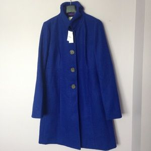 JCrew blue wool coat
