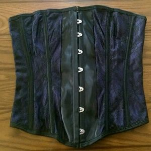 Other - Black and purple lace corset