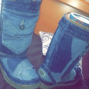 Shoes - Custom denim uggs