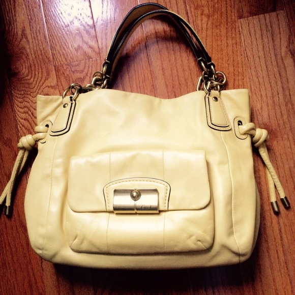 f45e55d37a Coach Bags | Butter Yellow Leather Handbag | Poshmark